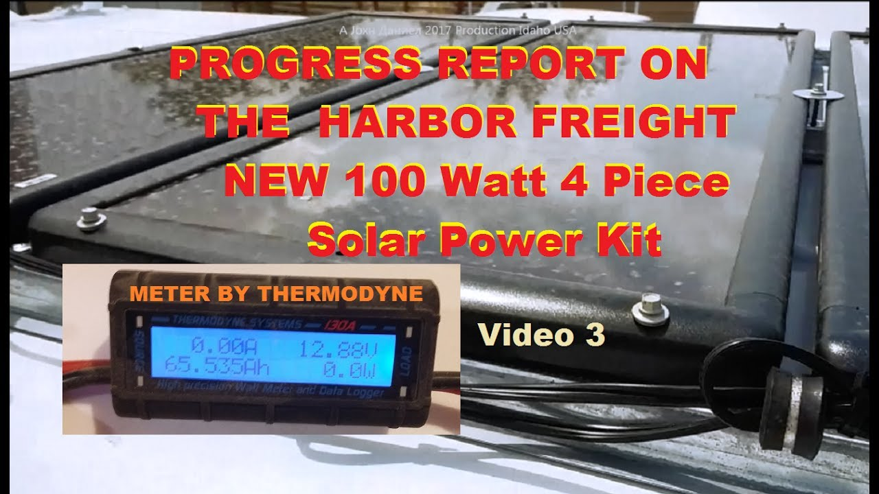 Using Harbor Freight 100 Watt Solar Panels Output Real Results Mobile Home Meter And Breaker Box Wiring Info Below