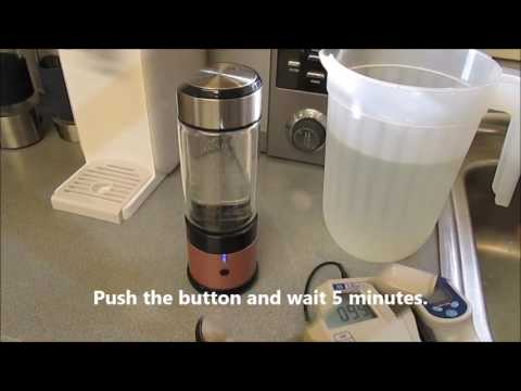 High Rich Hydrogen Water Generator Demo