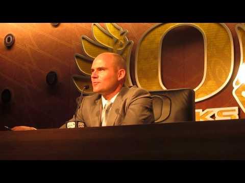 Oregon head coach Mark Helfrich 2015 NSD