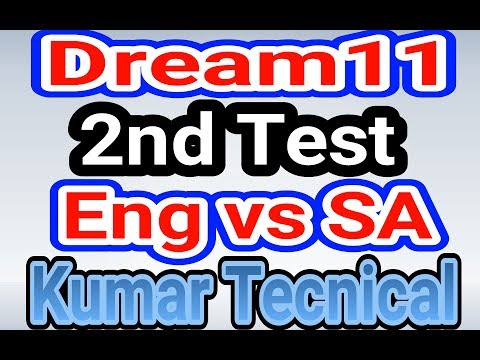 Dream11 England vs South Africa 2nd Test Playing XI Best Dream11 Teams in Hindi 2017