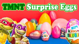 SURPRISE EGGS Nickelodeon Teenage Mutant Ninja Turtles TMNT Surprise Egg Video
