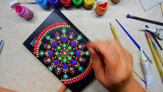 Ручная роспись ежедневника красками.