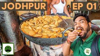 Jodhpur Food Tour Ep 1 with Veggiepaaji | Shahi Samosa, Pyaz Kachori, Mishrilal Lassi & More