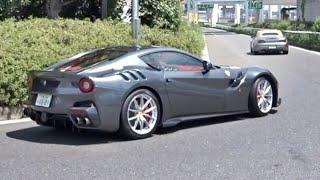 【大黒PA】スーパーカー加速サウンド/Supercars sound in Japan. F12TDF, Aventador, Scuderia, and more‼️ #大黒pa #スーパーカー