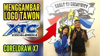 Menggambar Logo Tawon XTC Cicalengka | CorelDraw X7