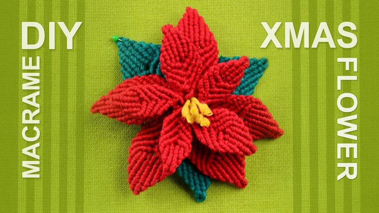 How to make Christmas Flower (Poinsettia) - YouTube