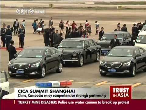 Cambodia PM Hun Sen arrives in Shanghai