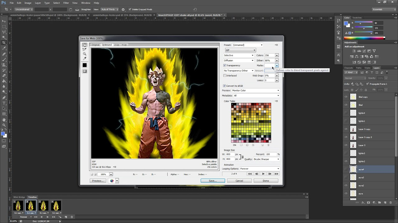 How to Save / Export Photoshop File to GIF File | QUALITY VS  FILE SIZE  Explained