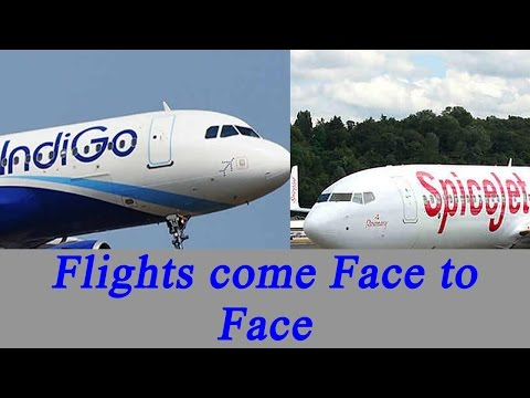Delhi : Indigo- Spicejet flights come face-to-face on same runway | Oneindia News