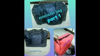 DIY how to sew extension travel bag at home in a easy way .  Part 1