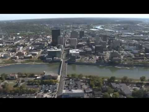 Aerial View of Dayton, OH Skyline