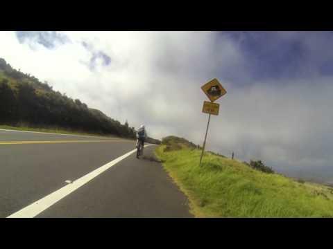 Biking Haleakala Volcano