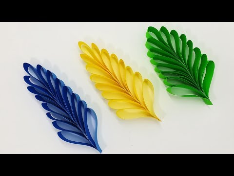 Easy DIY Paper Leaves Making Tutorial | Handmade Cutting Paper Leaf Step by Step | Homemade Craft