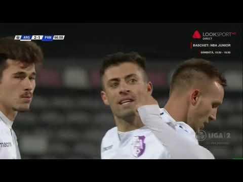 Arges - Pandurii : 2-1, un gol al lui Buhaescu pe o mare gafa de portar (min 67)