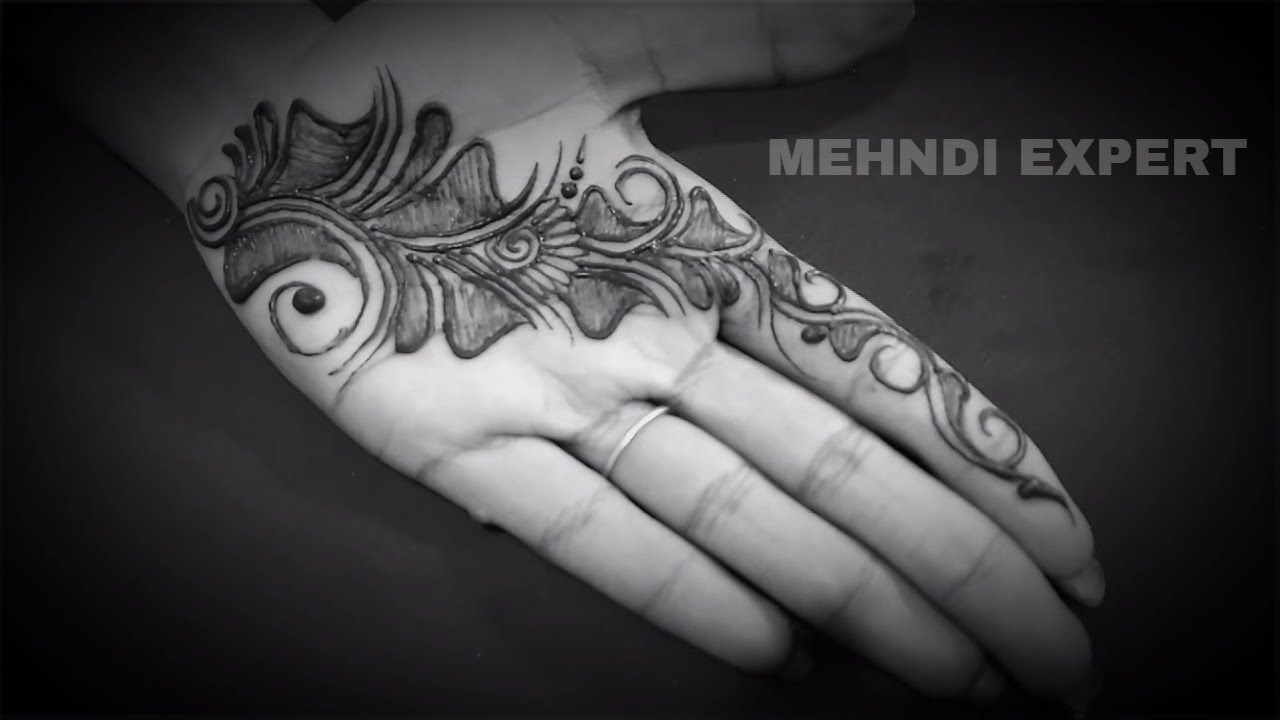 Cool Henna Designs Learn Simple Short Henna Design For Hand Tutorial