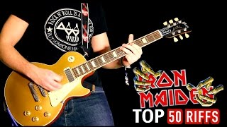Top 50 Greatest Iron Maiden Riffs Medley #2