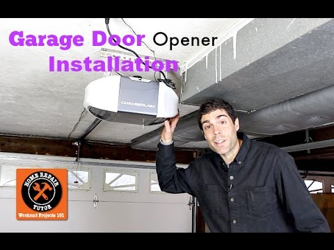 Garage Door Opener Installation By Home Repair Tutor