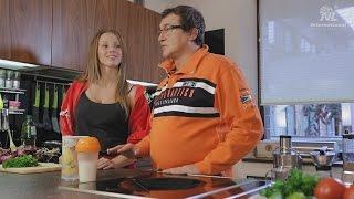 Легкий способ похудеть. Дмитрий и Полина Дибровы готовят омлет Energy Diet, NL Products