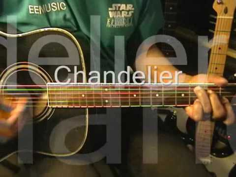 Sia CHANDELIER Guitar Strumming Cover & YouTube Lesson Link ...