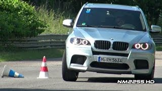 BMW X6M & X5M Accelerations and Slalom Test
