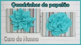 Quadrinhos fofos feitos com papelão e tecido