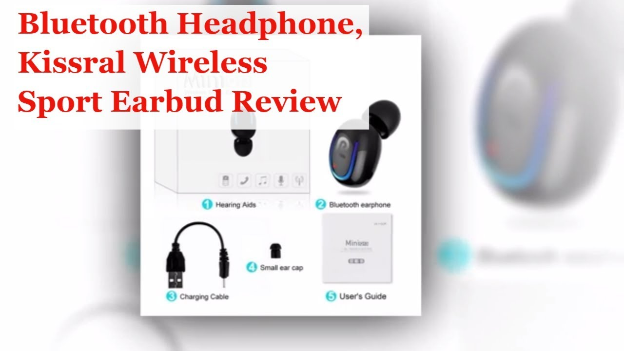 c0b3f4c767e Bluetooth Headphone, Kissral Wireless Sport Earbud Review - YouTube