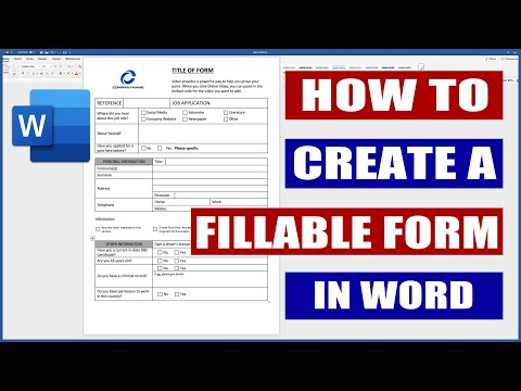 How to Create a Fillable Form in Word | Microsoft Word Tutorials