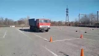 Занятие на автодроме: обучение категории С