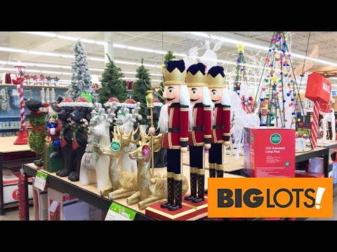Big Lots Christmas Decorations Trees Ornaments Home Decor Shop With Me Shopping Store Walk Through Youtube