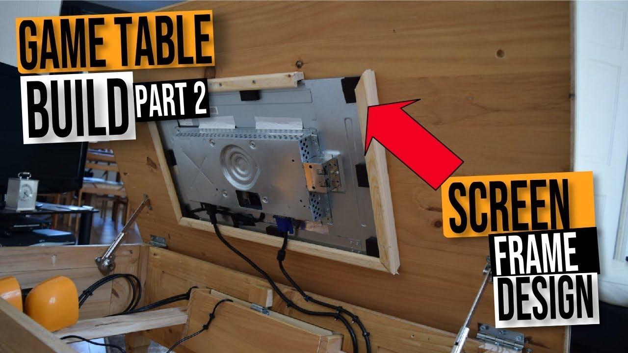 Retro Game Arcade Coffee Table Build Plans Diy Tutorial Part2