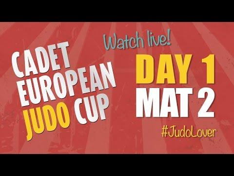 Cadet European Judo Cup - Coimbra 2016 - Day 1 - Mat 2