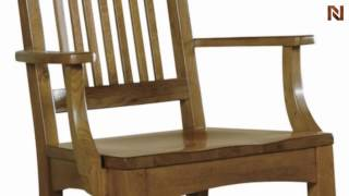 Hekman Arm Chair-wood Seat 8-4001