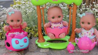 Lil Cutesies baby dolls playground Fun tea party too much cupcake Baby doll Potty Poop Slime Bath