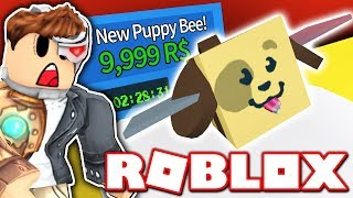 SPENDING ALL MY ROBUX ON *NEU* PUPPY BEE in BEE SWARM SIMULATOR UPDATE!! (Roblox)