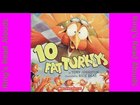 10 Fat Turkeys by Tony Johnston - Read Aloud Books for Kindergarten