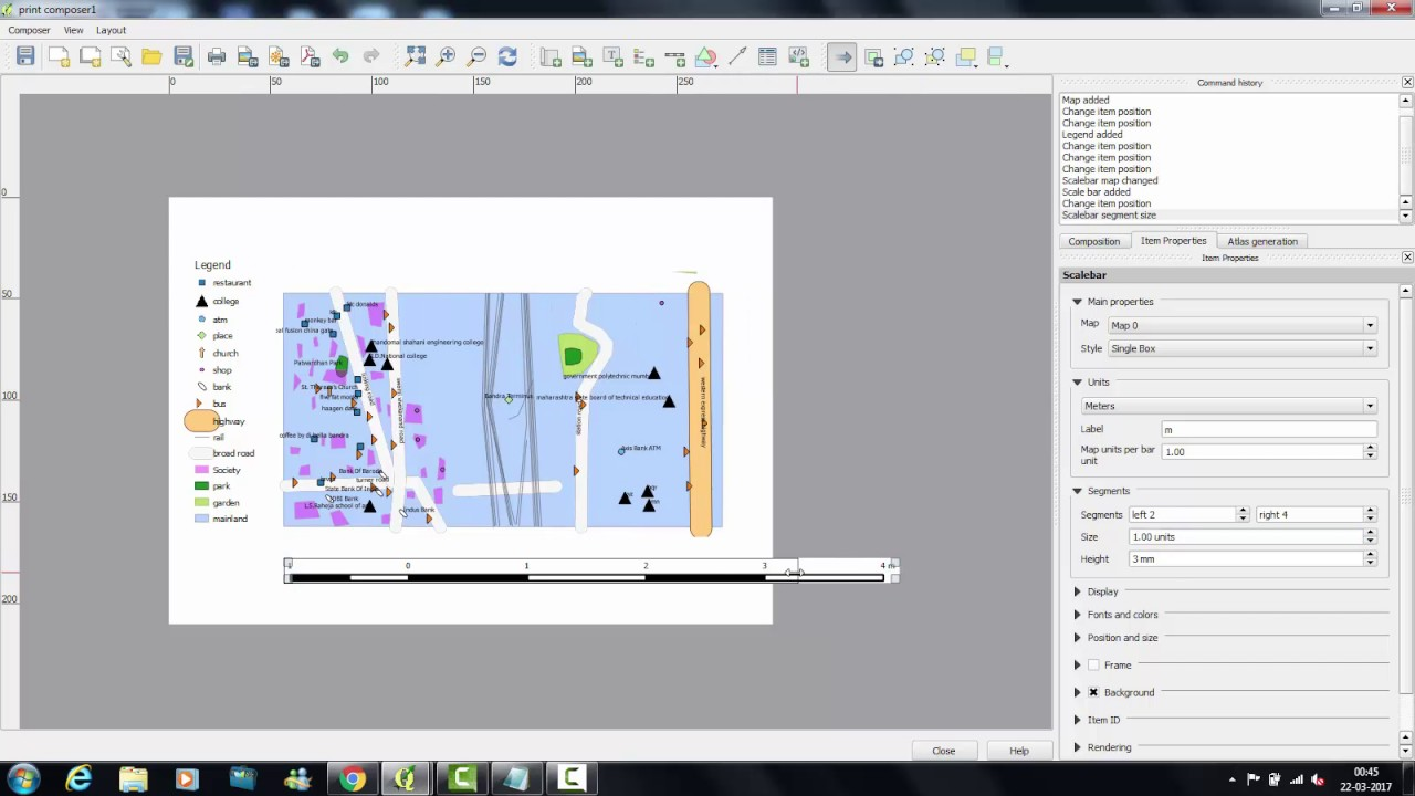 Tutorial 4 : Create a map using print composer - YouTube