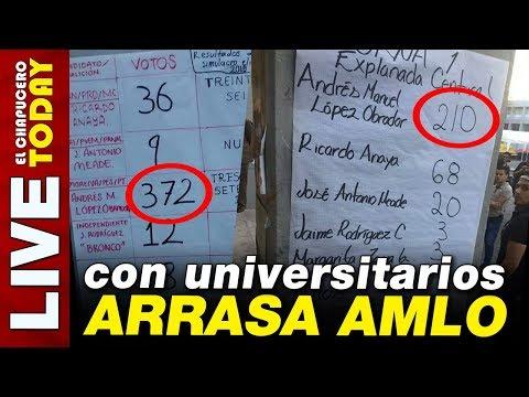 ¡ARRASA EN UNIVERSIDADES! LOS JÓVENES ESTÁN CON OBRADOR
