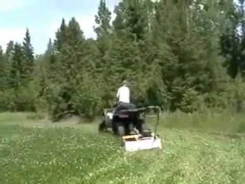 Homemade Atv Food Plot Mower Youtube