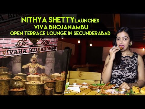 Nithya Shetty launches Vivaha Bhojanambu Open Terrace Lounge in Secunderabad