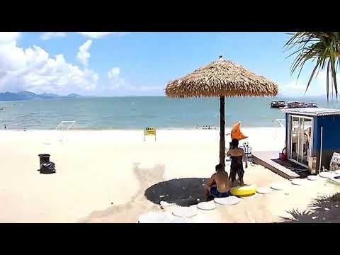 Обзор прогулка, море, лето, пляж, Silver Beach, Huizhou & Shenzhen, Агентство в Китае
