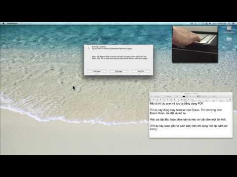 Scan và lưu bằng dạng PDF (Scan and save as a PDF file)