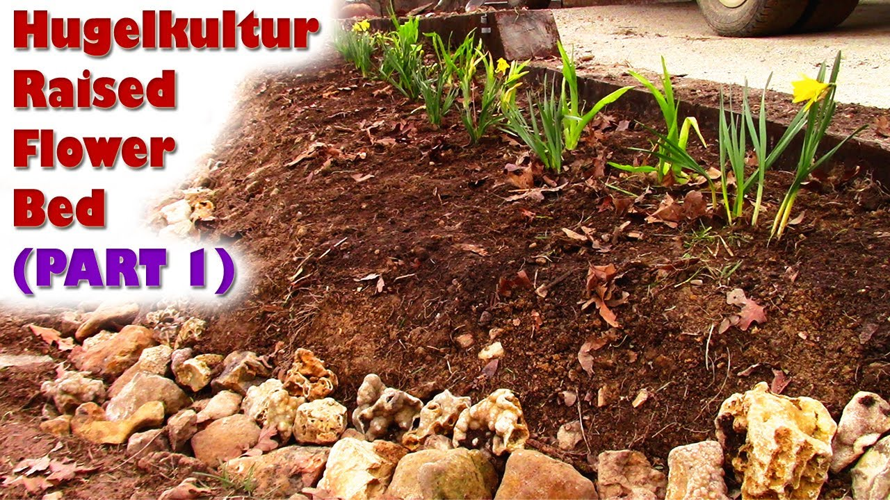 Raised Flower Bed DIY Hugelkultur Terrace (PART 1) Sustainable ...