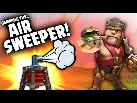 Clash of Clans - Gemming Air Sweeper to MAX + Sweeper Action