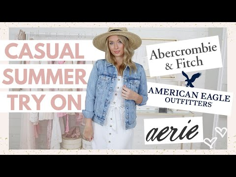 Casual Summer Outfits On Sale From American Eagle + Abercrombie | Clothing Try On Haul 2020