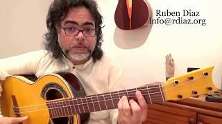 Learn Super-Handy Flamenco Chords 2 (por Taranta Bm) Paco de Lucia´s style guitar lesson Ruben Diaz