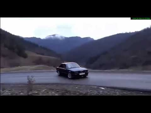 BMW E30 Illegal Drift In Borjomi Georgia - Sakire Mountains