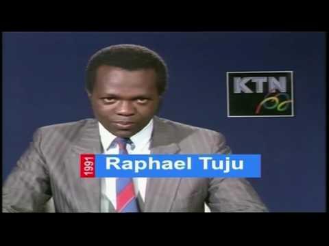 THE MAKING OF NEWS MAKERS: Raphael Tuju read news at Kenya Television Network (KTN)