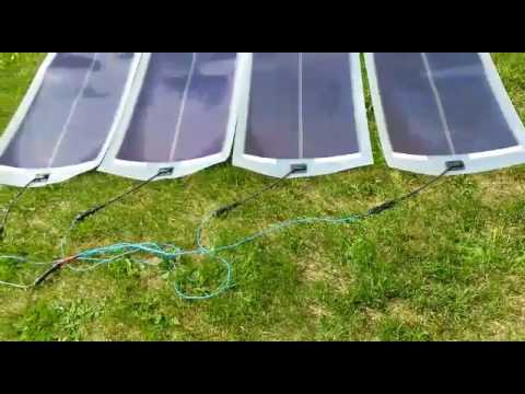 Fuji Fwave Flexible Solar Panel Youtube