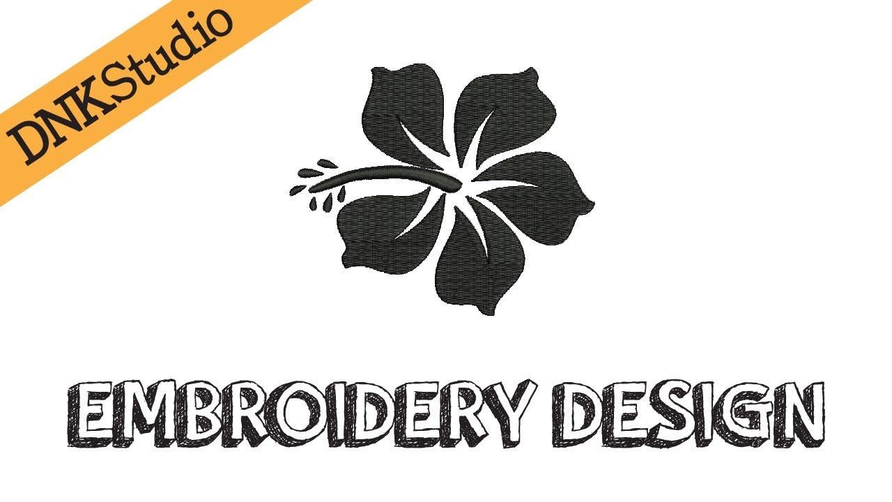 Hawaiian Hibiscus Flower Embroidery Design Youtube