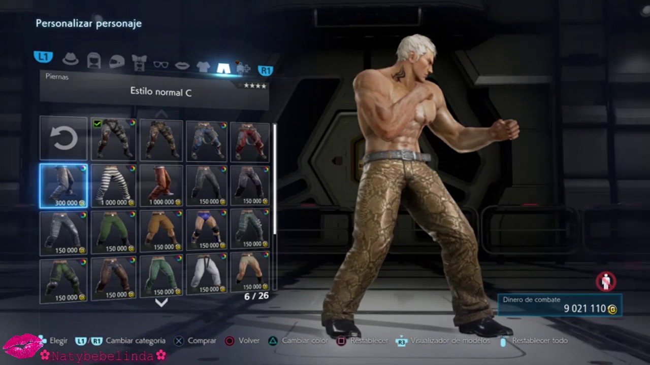 Tekken 7 Bryan Fury Character Customization Youtube